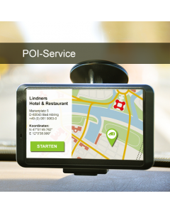 POI service for the hospitality industry (i.a. hotels & restaurants)