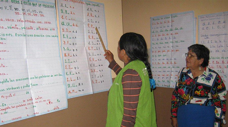 Literacy campaign for adults, Image: Jayma Kunan e.V.