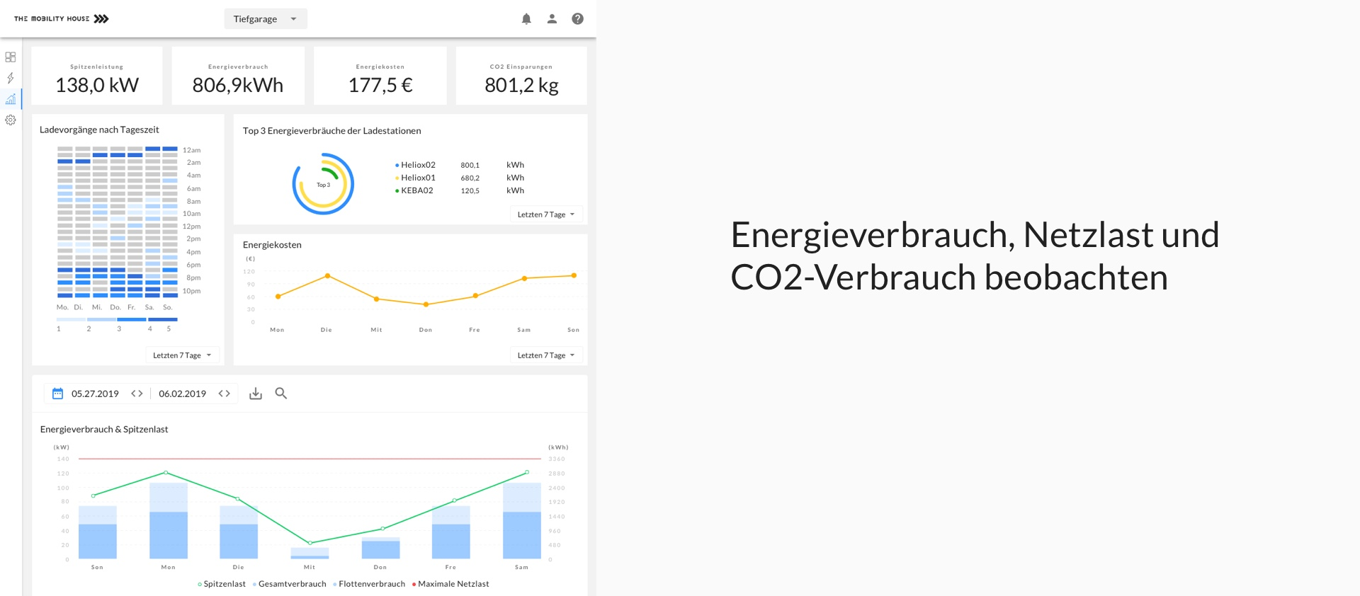 User Interface: Energieverbrauch beobachten