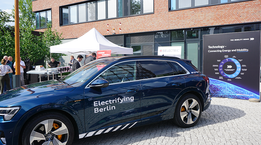 The Mobility House at the opening of the battery storage system at EUREF-Campus in Berlin