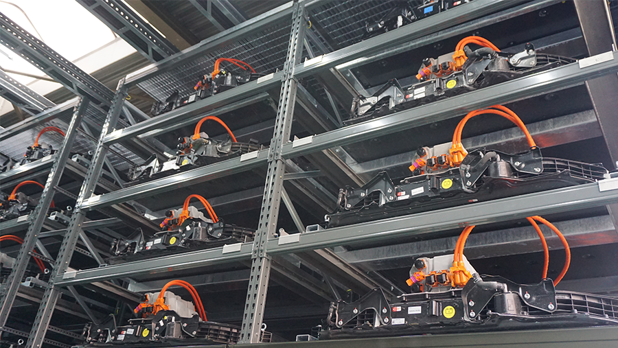 1,9 MW battery storage from the Audi e-tron test fleet