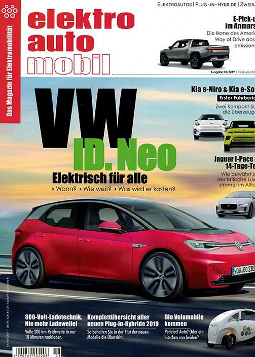 elektroautomobil Cover 01/2019