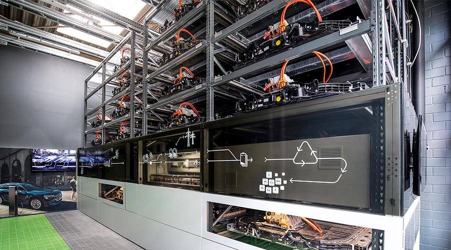 Audi Opens Battery Storage Unit on Berlin EUREF Campus