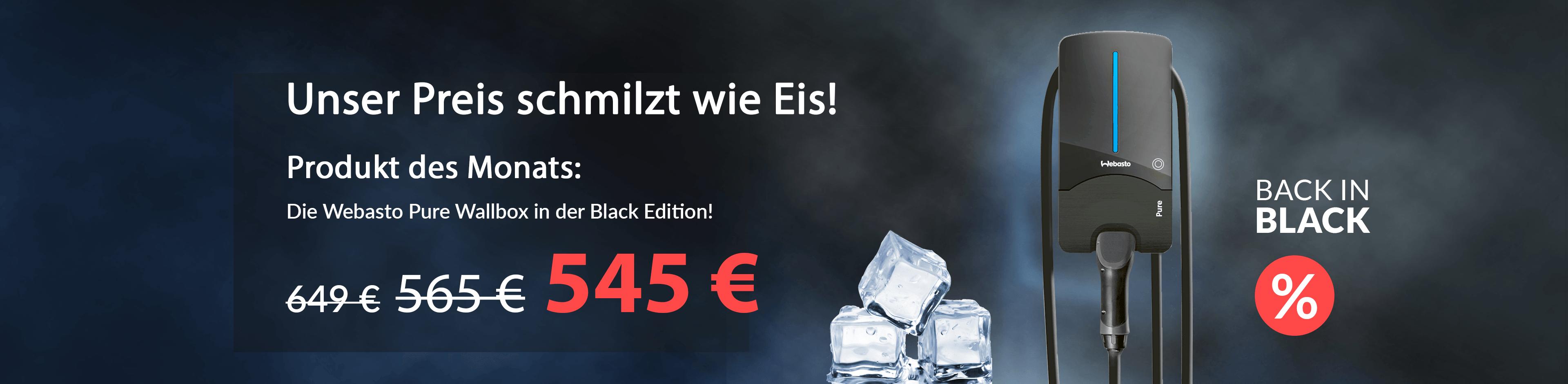 Produkt des Monats: Webasto Pure Wallbox 11kW Black Edition
