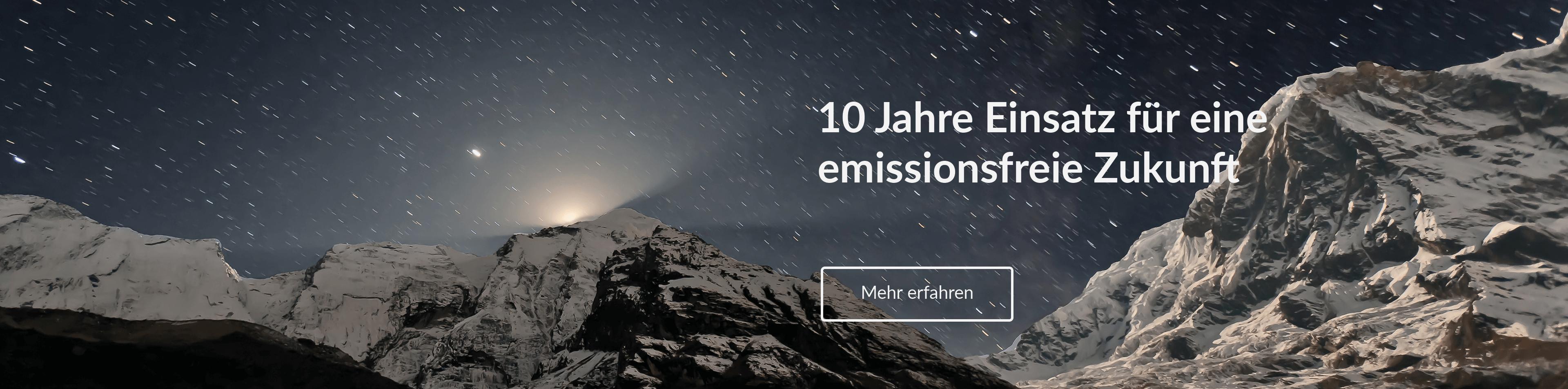 Zehn Jahre Einsatz für eine emissionsfreie Zukunft