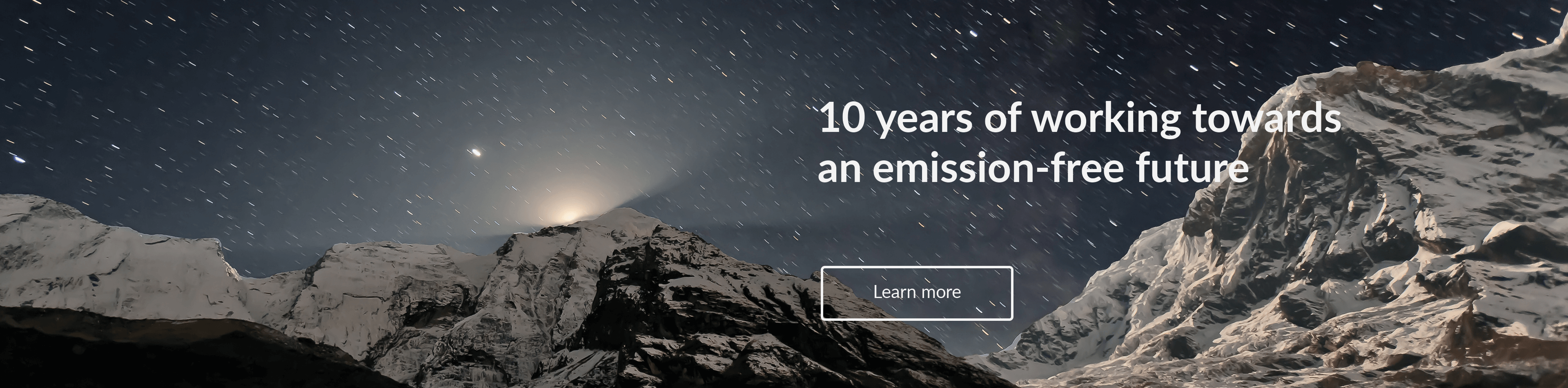 10 years of work towards an emission-free future