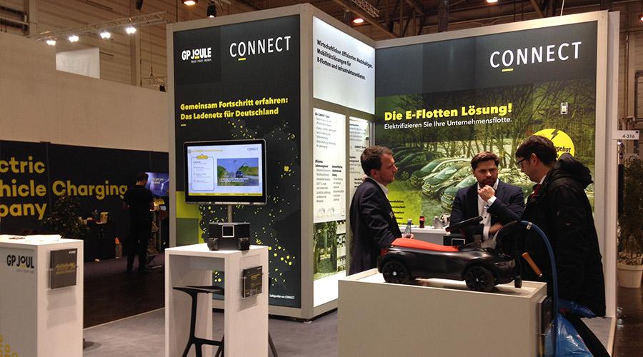 Kooperationspartner GP JOULE CONNECT bei Fachgesprächen auf der E-world