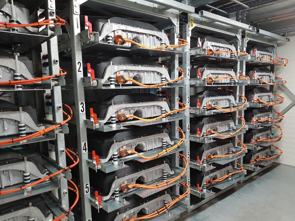 Lithiumionenbatteriespeicher auf dem EUREF Campus in Berlin