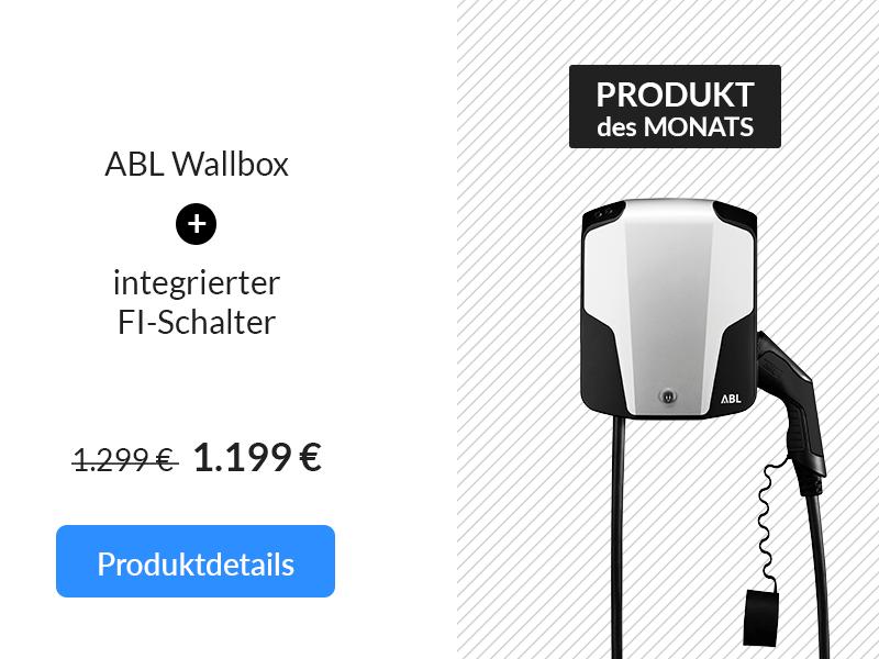 Produkt des Monats: ABL Wallbox 22 kW - integrierter FI-Schalter