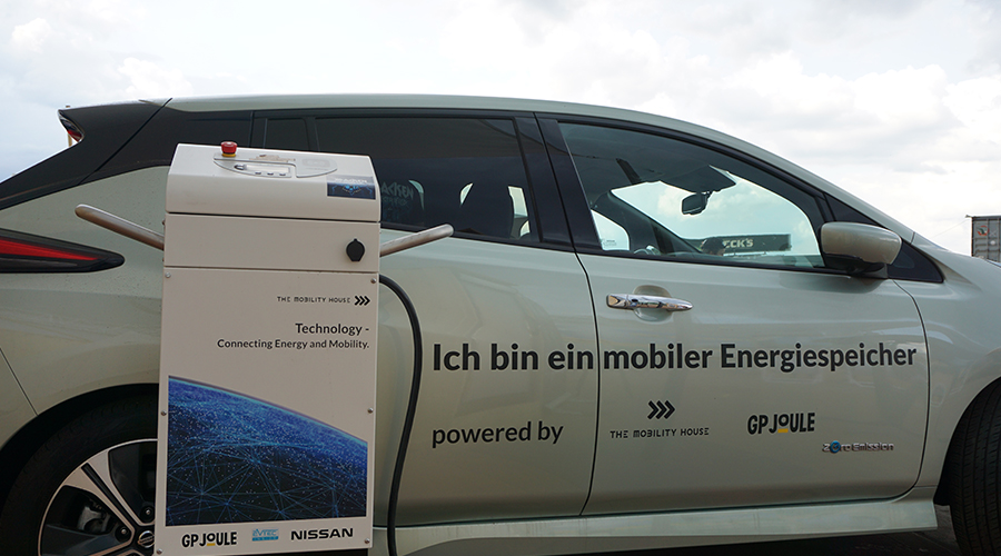 Nissan Leaf, the mobile energy storage at Wacken Open Air