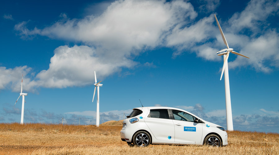 Renault Zoe as part of the intelligent eco system on Porto Santo island