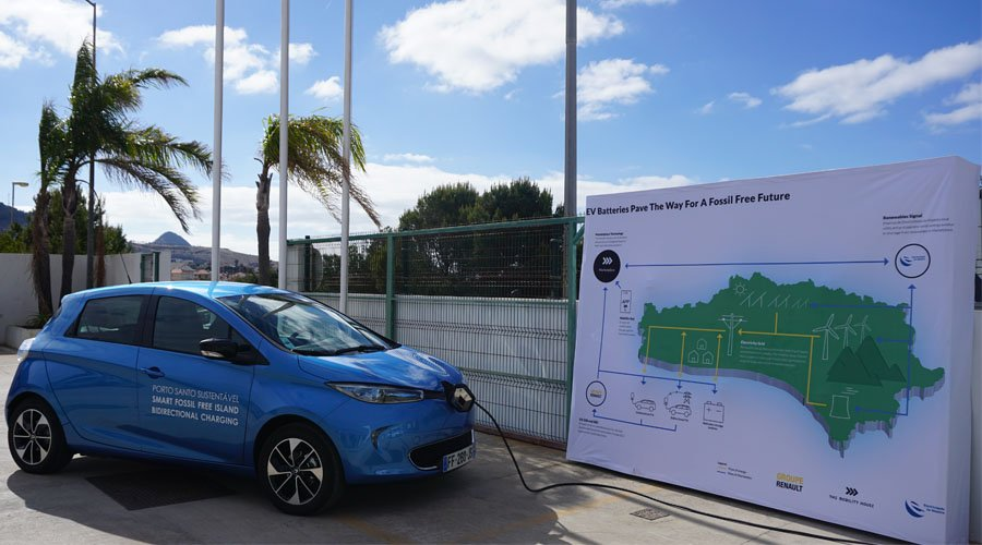 Presentation of the project Porto Santo mit The Mobility House and Renault