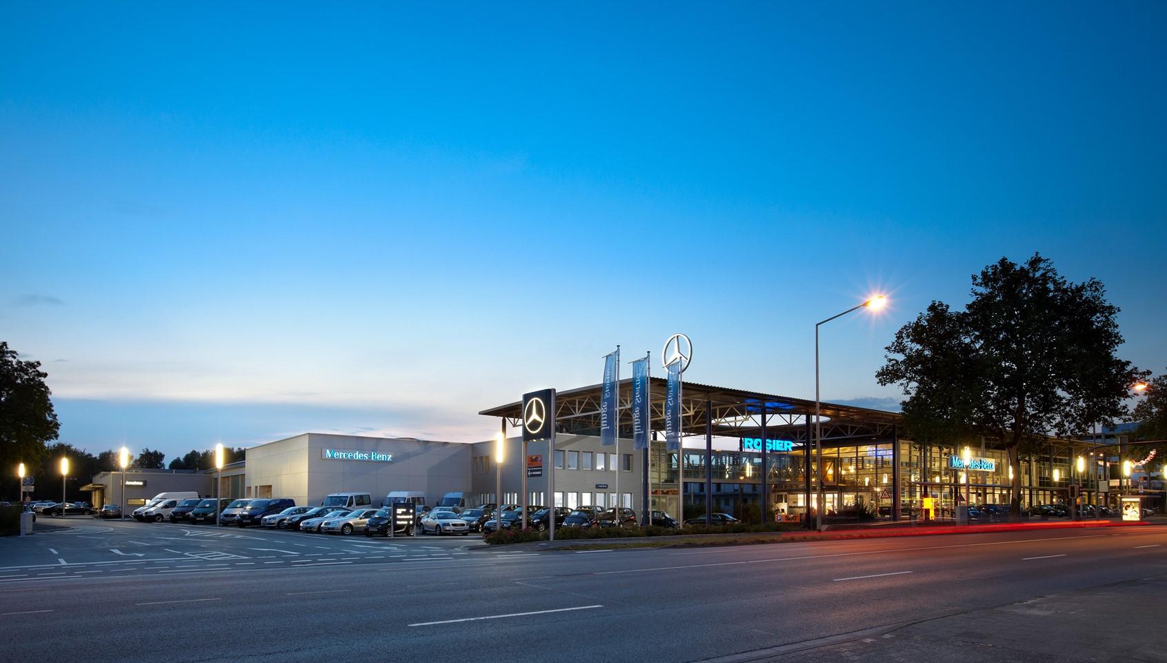 Charging infrastructure concept for Rosier car dealership