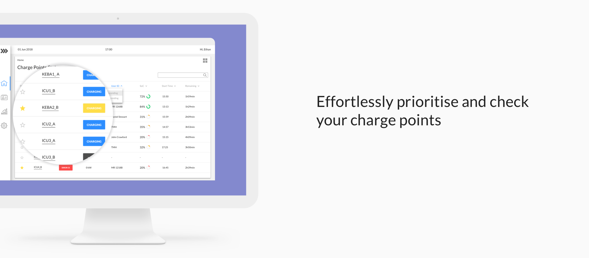 Effortlessly prioritise you charge points