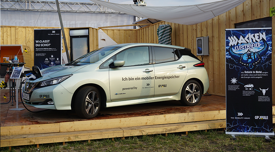 The Mobility House mit Vehcile-to-Grid in der Future Factory auf dem Wacken Open Air