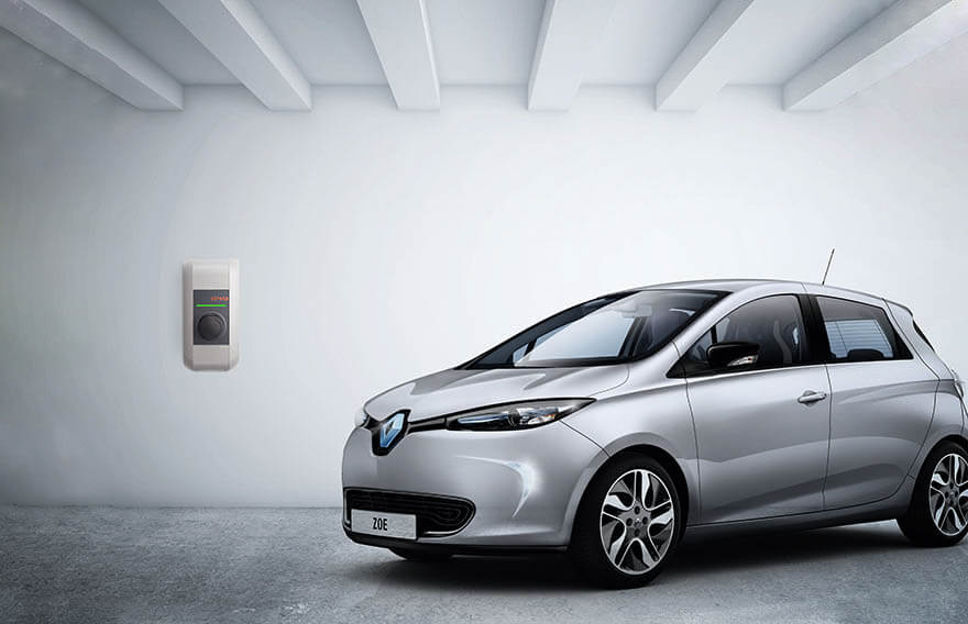 Elektroauto Renault Zoe mit Wallbox