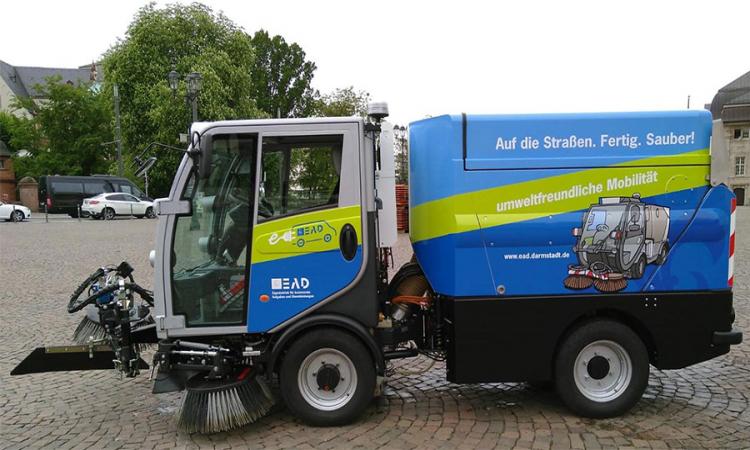 Nutzfahrzeuge intelligent geladen: The Mobility House stattet EAD Darmstadt aus