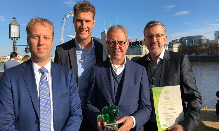 The energy storage system in the Johan Cruijff ArenA has won the Green Apple Award for Environmental Best Practice