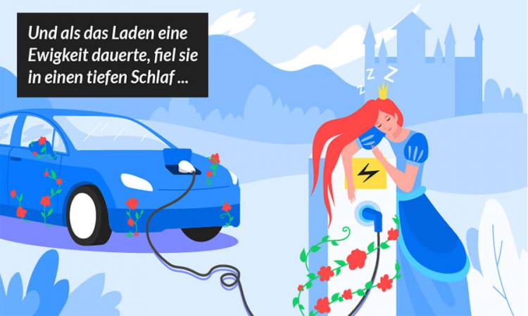 Märchen der Elektromobilität: Es war einmal...ein umständlicher und langsamer Ladevorgang