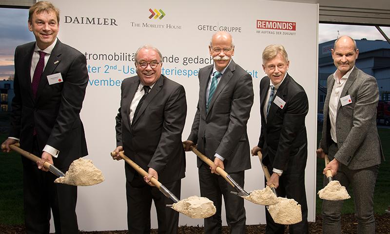 Spatenstich für den weltweit größten 2nd-use Batteriespeicher in Lünen