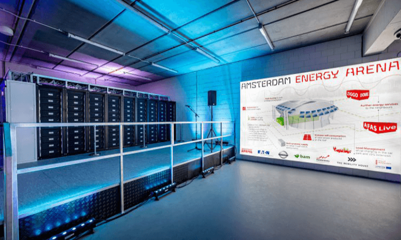 3 Megawatt Energiespeicher in der Johan Cruijff ArenA ist am Netz