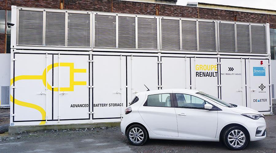 Schlüsselfertige Speichercontainer aus Fahrzeugbatterien ermöglichen Industrie und Netzbetreibern hohe Kosteneinsparungen