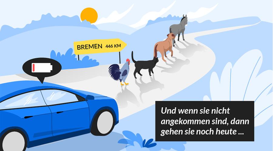 Märchen der Elektromobilität: Es war einmal...ein Elektroauto mit geringer Reichweite