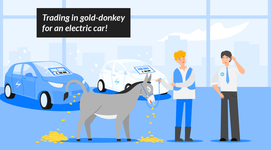 Once upon a time…electric cars were expensive!