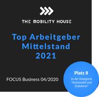 Focus Business zählt The Mobility House zu den Top Ten Arbeitgebern im Mittelstand 2021