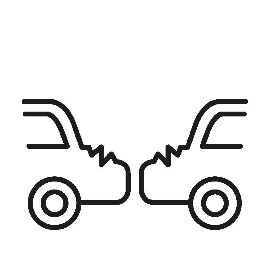 Icon Unfall Elektroauto