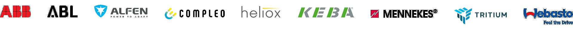 Hersteller von Ladestationen Logos