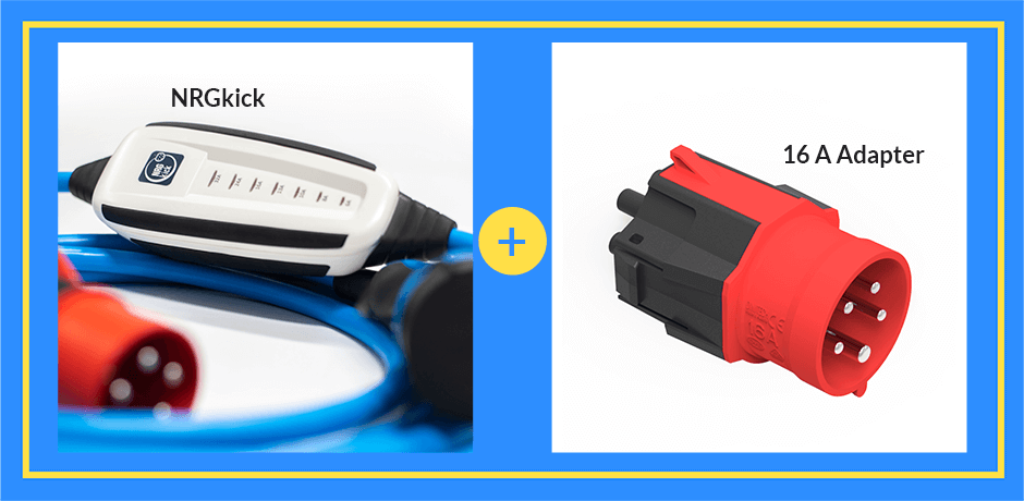 go-eCharger Home+ & matching adapter set