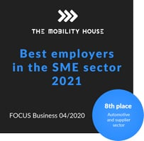 Focus Business ranks The Mobility House among the top ten best employers in the SME sector 2021