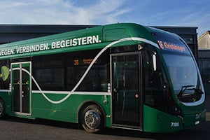 Basler Vekehrsbetriebe electric bus fleet