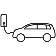Icon Ladendes Elektrofahrzeug