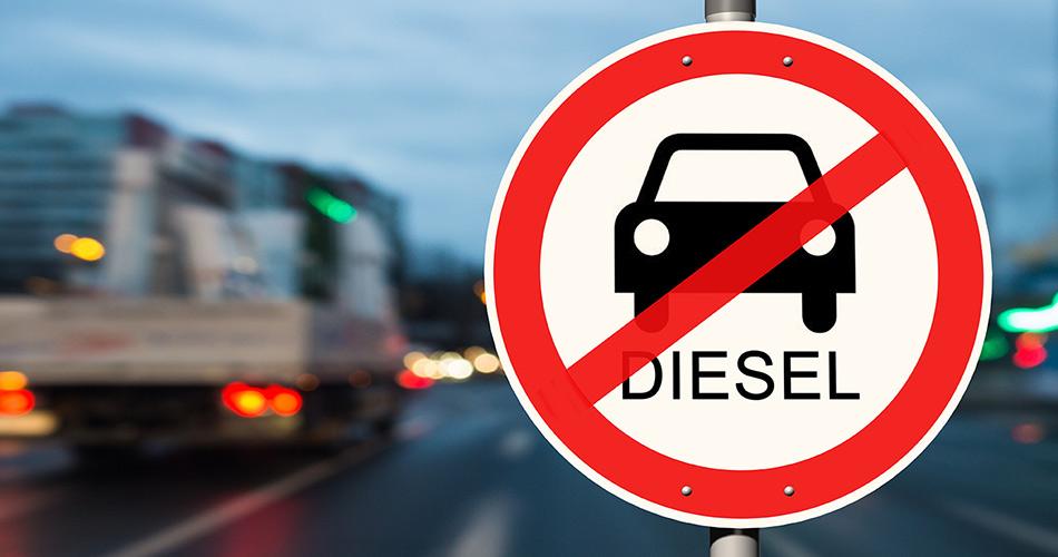 Diesel-Umweltzone: Schild in der Stadt