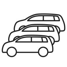 Icon - Mehrere Elektroautos parallel laden