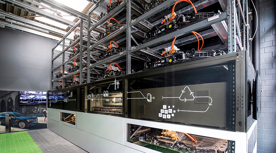 Audi eröffnet Batteriespeicher auf Berliner EUREF-Campus