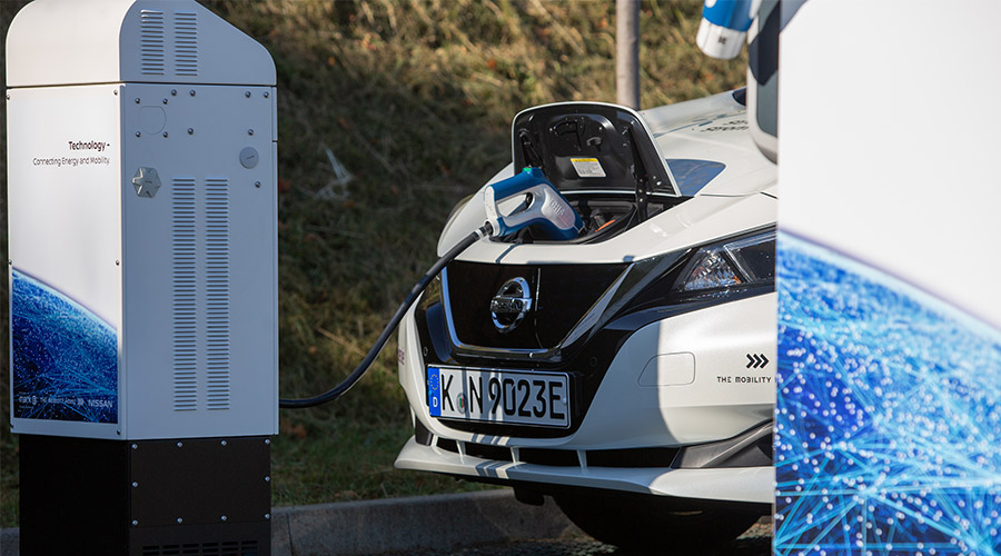 Primary control power supplied by Nissan Leaf in Hagen