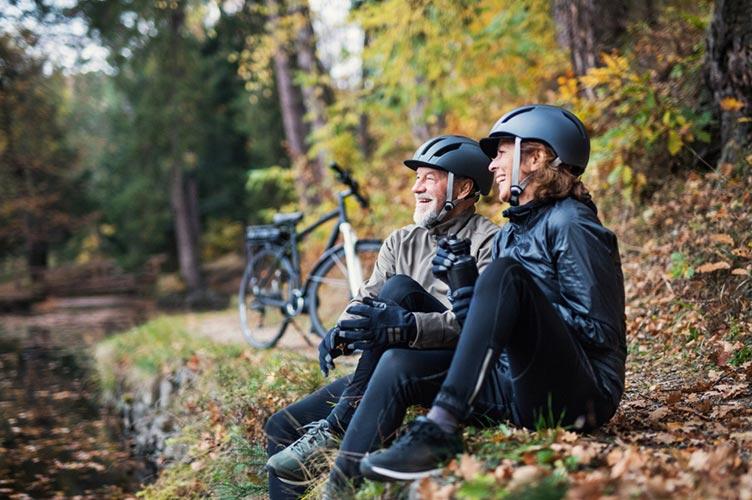 Mit dem E-Bike bei Wind und Wetter unterwegs
