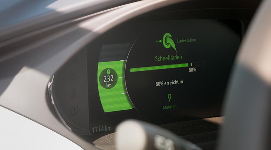 Opel Ampera - Batteriestandsanzeige