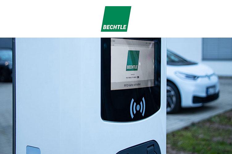Referenz: Bechtle Ladepark für elektrische Dienstwagen