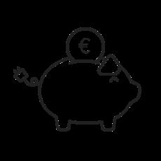 Icon: Geld sparen beim Laden